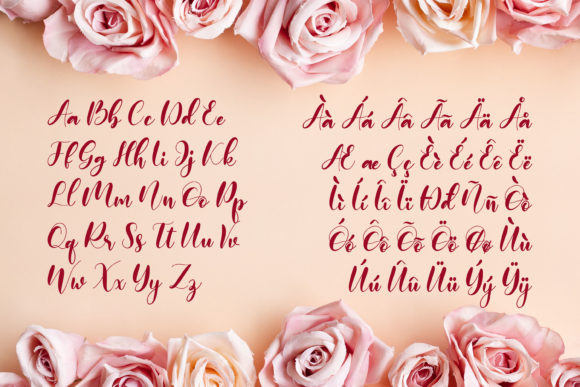 Print on Demand: Monieta Script & Handwritten Font By almarkhatype - Image 8