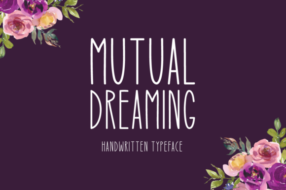 Print on Demand: Mutual Dreaming Display Font By Instagram Fonts