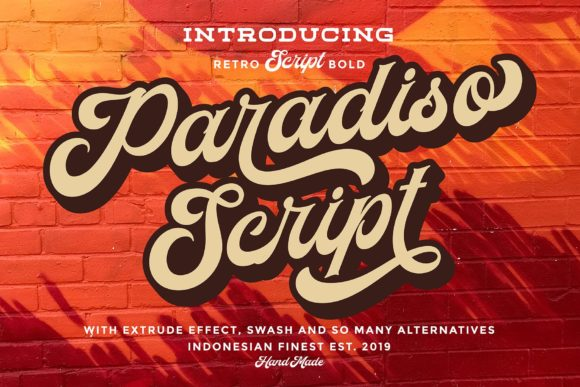 Print on Demand: Paradiso Script & Handwritten Font By Ngene