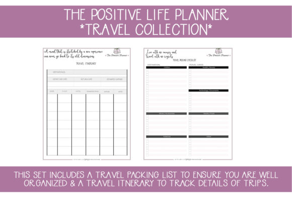 Print on Demand: Positive Planner Travel Pages Graphic Illustrations By capeairforce - Image 1