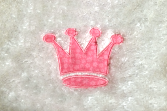 Princess Crown Applique Fairy Tales Embroidery Design By DesignedByGeeks