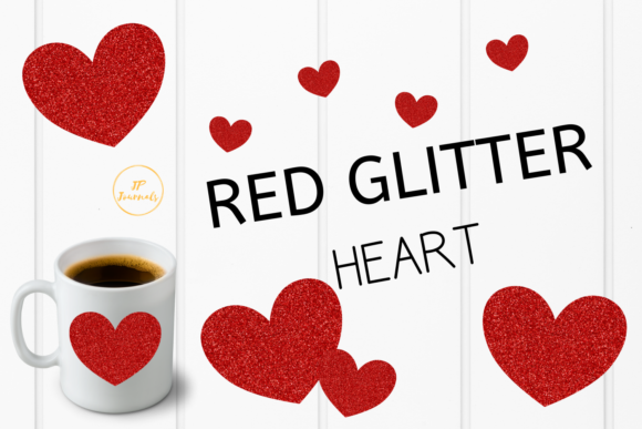 Download Free Red Glitter Heart Clip Art Valentine Graphic By for Cricut Explore, Silhouette and other cutting machines.