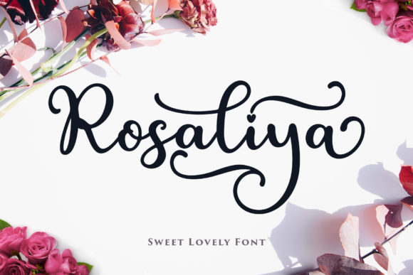 Print on Demand: Rosaliya Script & Handwritten Font By Sulthan Studio