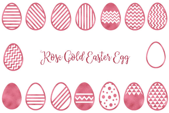 Download Free Rose Gold Easter Egg Clipart Graphic By Bonadesigns Creative for Cricut Explore, Silhouette and other cutting machines.