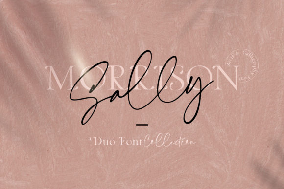 Print on Demand: Sally Morrison Duo Script & Handwritten Font By Blue Robin Design Shop
