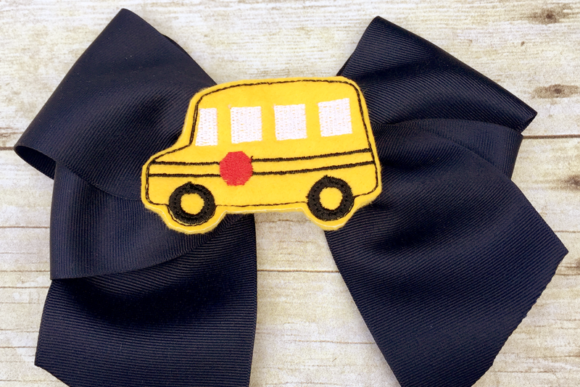 School Bus Oversized Feltie Back to School Embroidery Design By DesignedByGeeks
