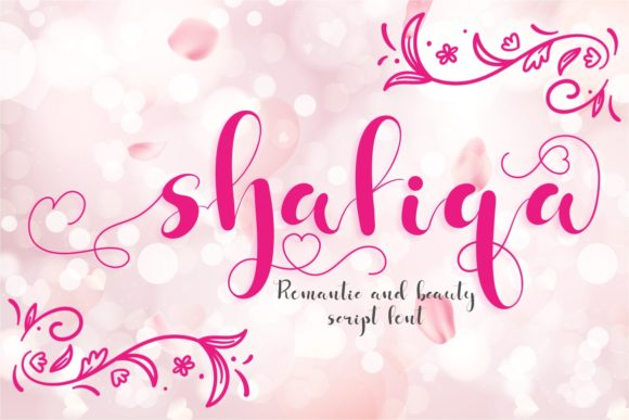 Print on Demand: Shafiqa Script & Handwritten Font By putracetol