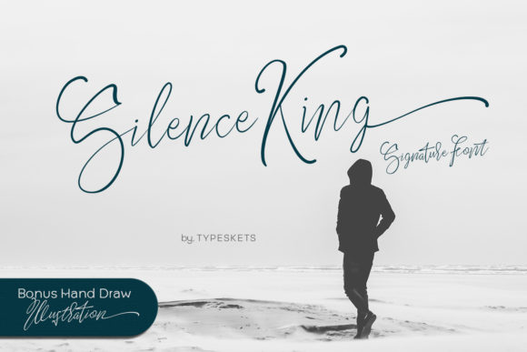 Print on Demand: Silence King Script & Handwritten Font By Typeskets