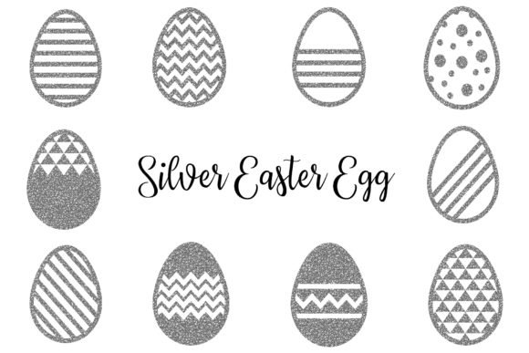 Silver Easter Egg Clipart Easter Clipar Graphic By Bonadesigns