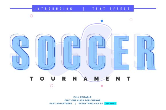 Print on Demand: Soccer Text Effect Design Full Editable Graphic Actions & Presets By twinletter