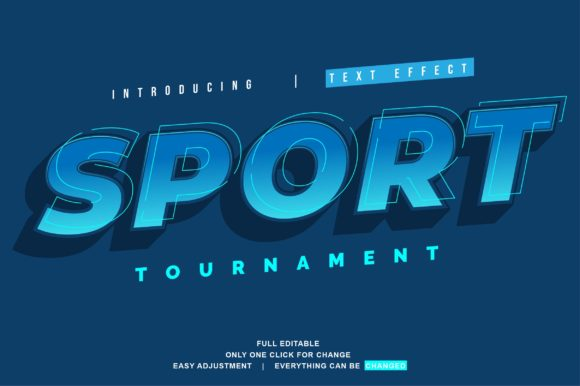 Print on Demand: Sport Text Effect Graphic Graphic Templates By twinletter