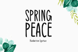 Print on Demand: Spring Peace Display Font By Instagram Fonts