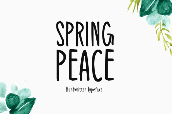 Print on Demand: Spring Peace Display Font By FontEden