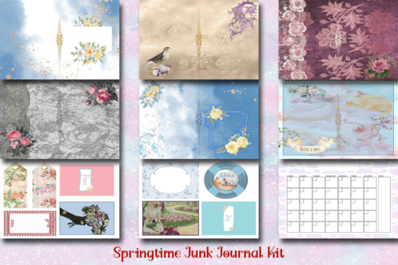 Springtime Printable Journaling Kit Graphic Crafts By AHDesign
