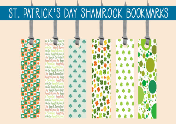 Print on Demand: St. Patricks Day Shamrock Bookmarks  #1 Graphic Print Templates By capeairforce