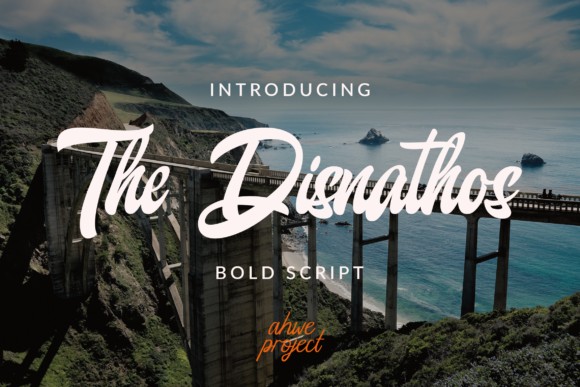 Print on Demand: The Disnathos Script & Handwritten Font By ahweproject - Image 1
