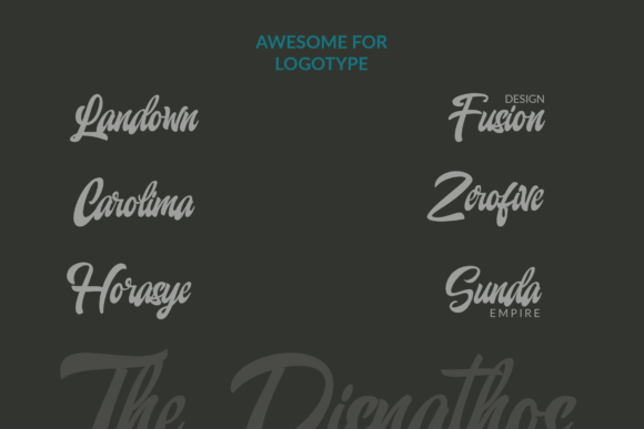 Print on Demand: The Disnathos Script & Handwritten Font By ahweproject - Image 6