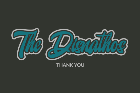 Print on Demand: The Disnathos Script & Handwritten Font By ahweproject - Image 7