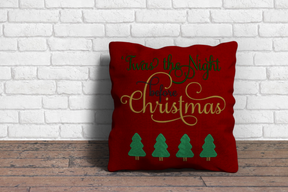 Twas the Night Before Christmas Christmas Embroidery Design By DesignedByGeeks - Image 1