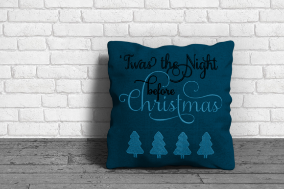 Twas the Night Before Christmas Christmas Embroidery Design By DesignedByGeeks - Image 2