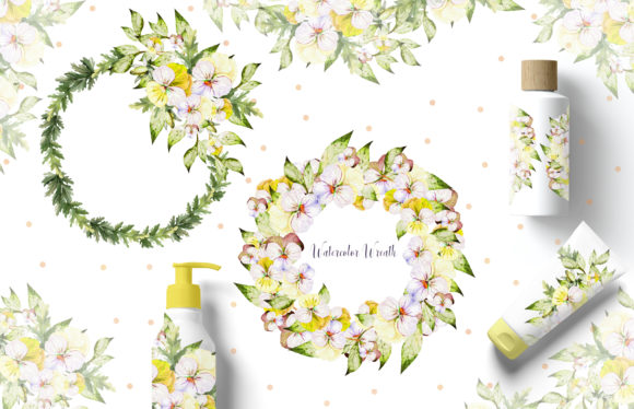 Watercolor Pansy Flowers Graphic Objects By Knopazyzy - Image 10