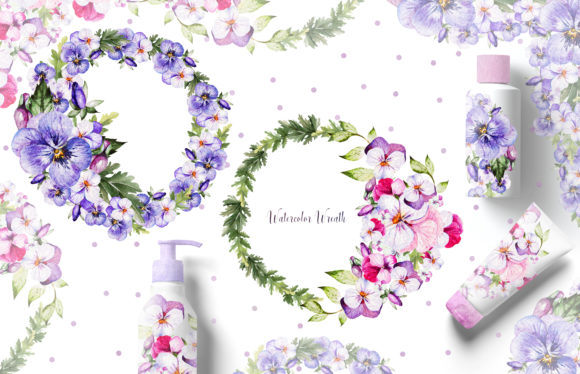 Watercolor Pansy Flowers Graphic Objects By Knopazyzy - Image 12