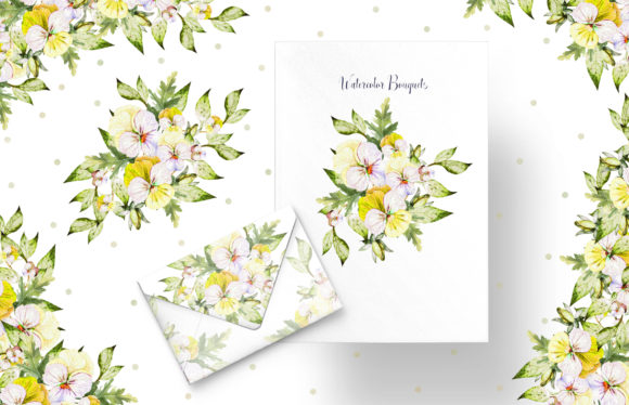Watercolor Pansy Flowers Graphic Objects By Knopazyzy - Image 7