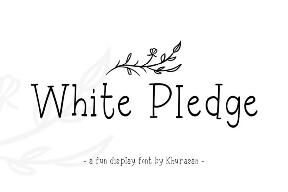 Print on Demand: White Pledge Display Font By Khurasan