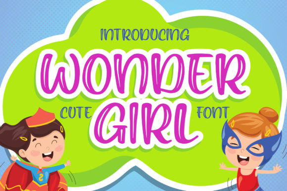 Print on Demand: Wonder Girl Display Schriftarten von Blankids Studio