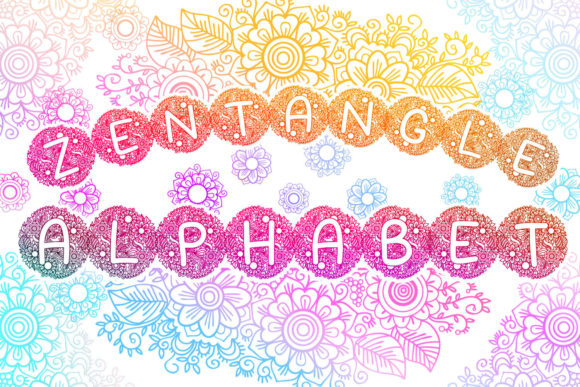 Print on Demand: Zentangle Spring Alphabet Graphic Crafts By tatiana.cociorva