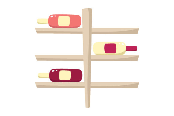 Wine Rack with Bottles Wine Craft Cut File By Creative Fabrica Crafts