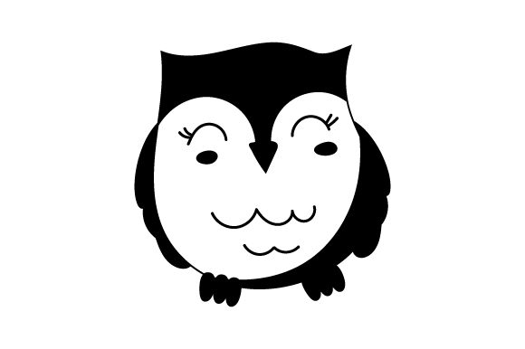 Owl Kawaii Design Designs & Drawings Craft Cut File By Creative Fabrica Crafts - Image 2