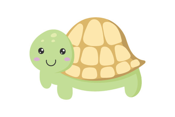 Turtle Kawaii Design Diseños y Dibujos Archivo de Corte Craft Por Creative Fabrica Crafts
