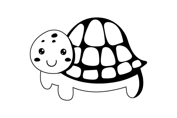 Turtle Kawaii Design Designs & Drawings Craft Cut File By Creative Fabrica Crafts - Image 2