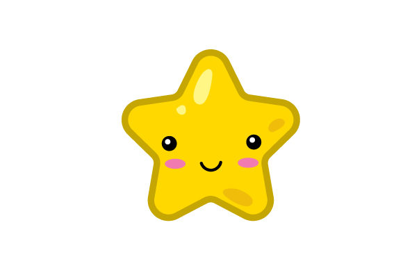Star Kawaii Design Diseños y Dibujos Archivo de Corte Craft Por Creative Fabrica Crafts