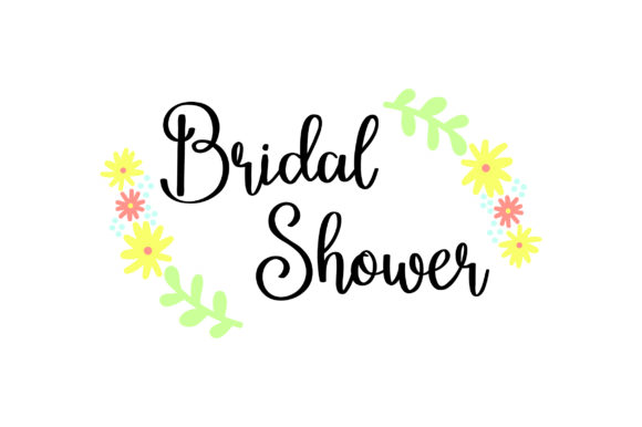 Bridal Shower - FLOWERS Wedding Craft Cut File By Creative Fabrica Crafts - Image 1