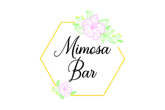 Mimosa Bar Wedding Craft Cut File By Creative Fabrica Crafts - Image 1