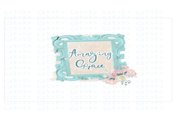 Print on Demand: Amazing Grace in Frame Graphic Illustrations By GlitterBeeDesignShop - Image 1