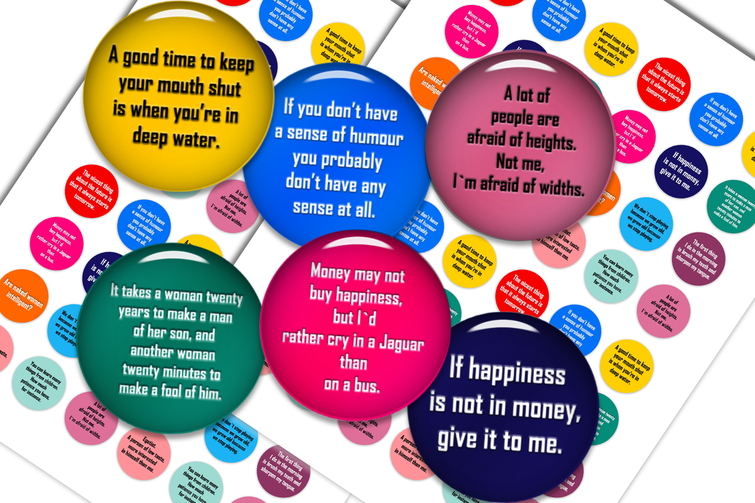 Download Free Aphorisms Digital Collage Sheet Graphic By Denysdigitalshop for Cricut Explore, Silhouette and other cutting machines.