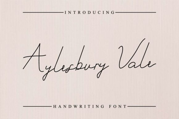 Print on Demand: Aylesbury Vale Script & Handwritten Font By EdricStudio