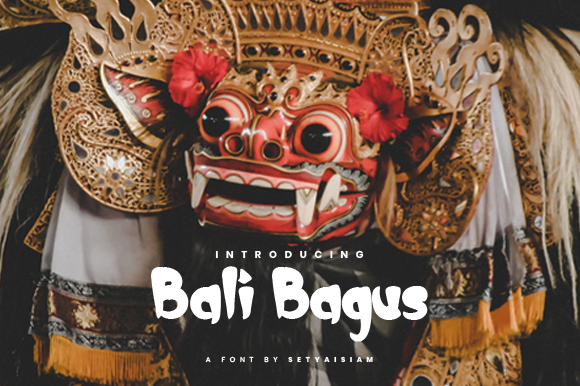 Print on Demand: Bali Bagus Display Font By setyaisiam