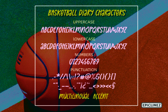 Print on Demand: Basketball Diary Display Font By Epiclinez - Image 6