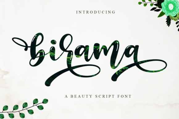 Print on Demand: Birama Script & Handwritten Font By Haksen