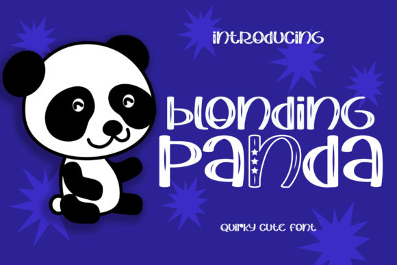 Print on Demand: Blonding Panda Manuscrita Fuente Por airotype