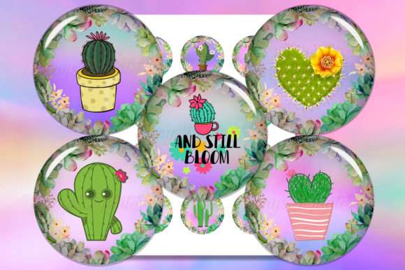 Cactus Digital Collage Sheet Cactus Graphic Crafts By denysdigitalshop
