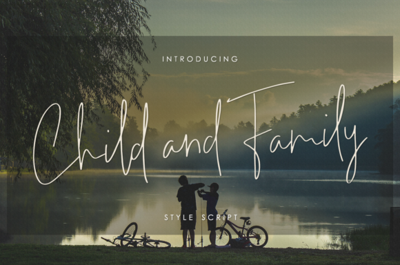 Print on Demand: Child and Family Script & Handwritten Font By enyaaa90