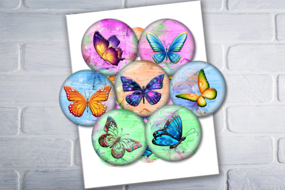 Download Free Colorful Butterflies Printable Images Graphic By for Cricut Explore, Silhouette and other cutting machines.