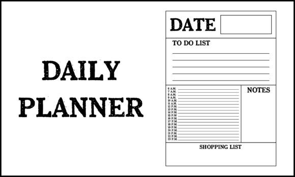 Print on Demand: Daily Planner Graphic Product Mockups By colorsplash - Image 1