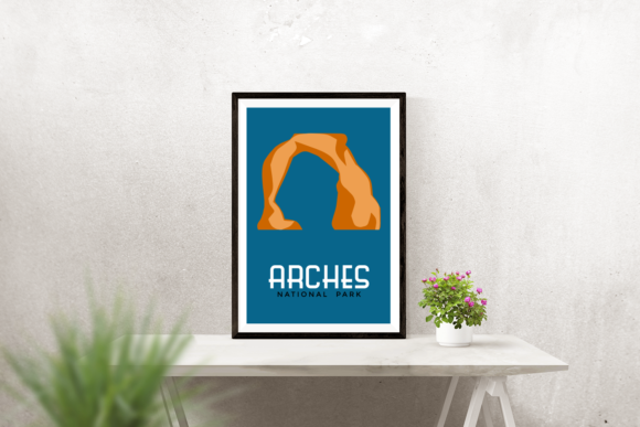Delicate Arch Graphic Crafts By RisaRocksIt