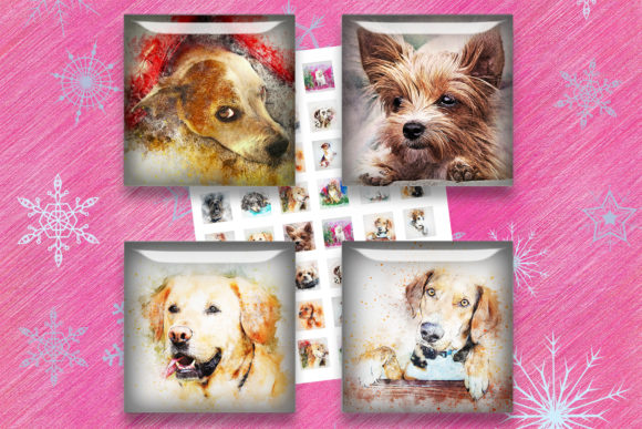 Dogs Printable,Dogs Collage Sheets Graphic Crafts By denysdigitalshop